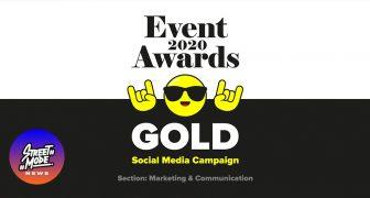 """Βραβείο """"Gold"""" για τα Social Media μας στα Event Awards 2020"""