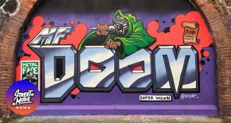 Graffiti προς τιμήν του MF DOOM (R.I.P.)